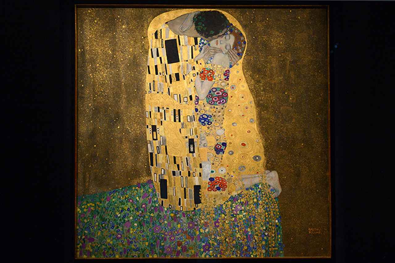 画像: クリムトの「接吻」 オーストリア・ギャラリー蔵