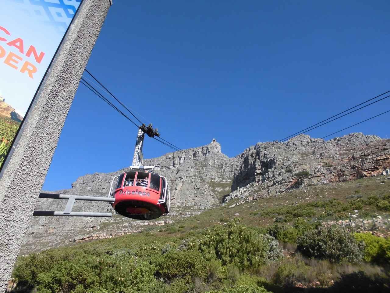 画像: テーブルマウンテンのケーブルカー©南アフリカ政府観光局