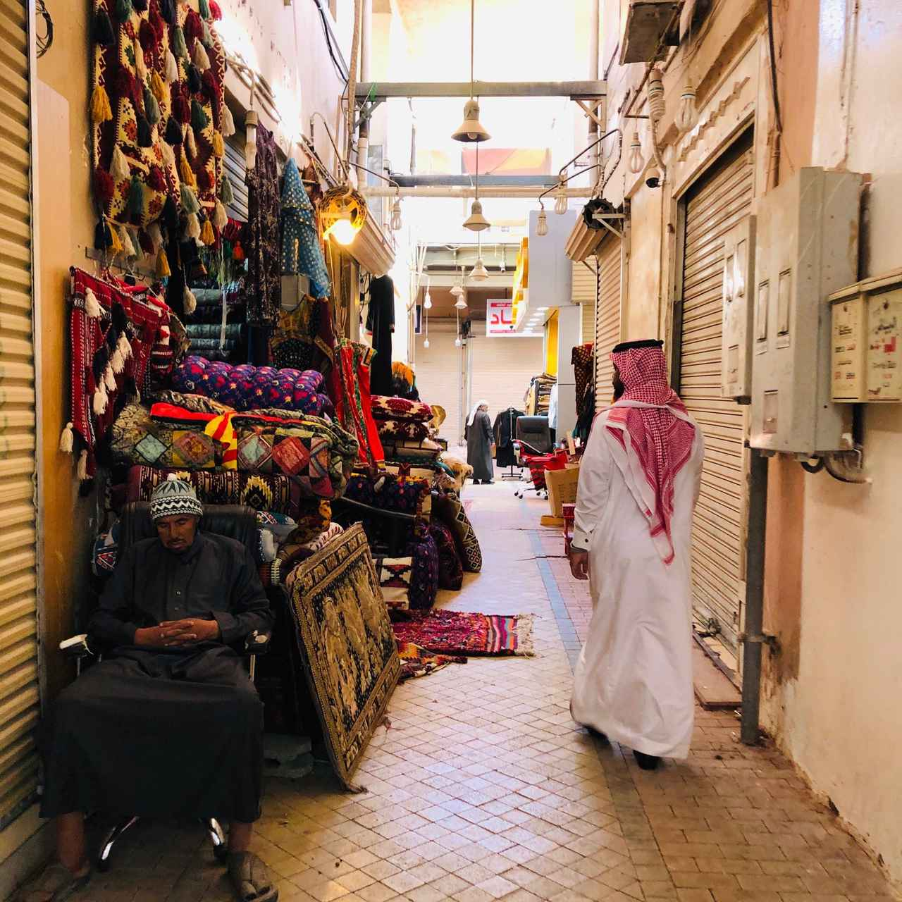 画像: 首都リヤドの旧市街のスーク