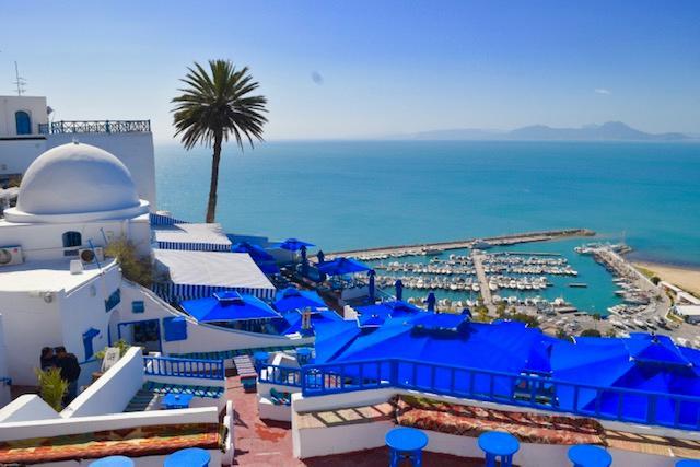 画像: チュニジアンブルーが美しい シディブサイド(スタッフ撮影)