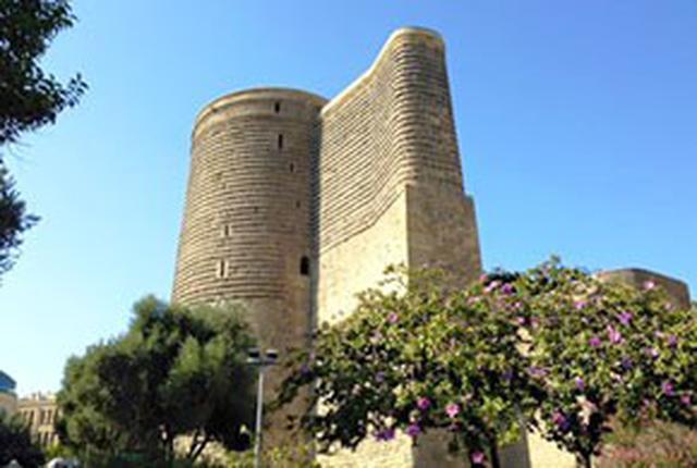 画像: アゼルバイジャン バクーの乙女の塔(イメージ)