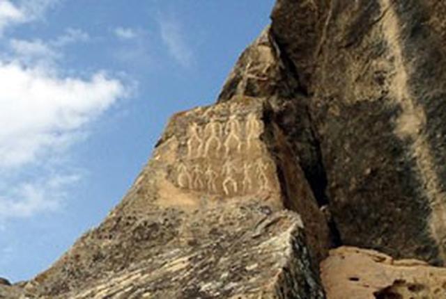 画像: 世界遺産ゴブスタン遺跡の壁絵(イメージ)