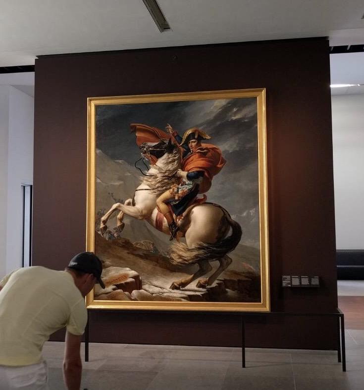 画像: ナポレオンの絵画(弊社スタッフ撮影)