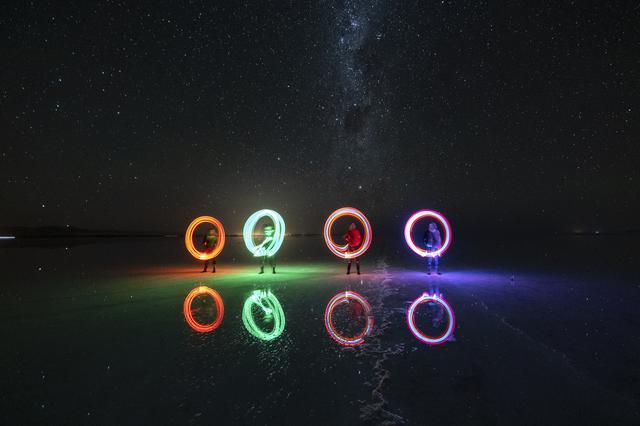 画像: 満天の星空の下でライトを使ったトリック写真も撮影できます(イメージ)