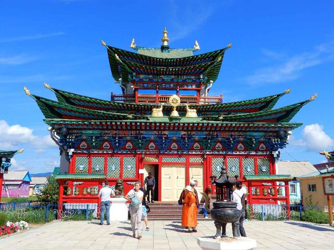 画像: イヴォルギンスキー・ダッツァン ロシアにおけるチベット仏教の総本山(弊社社員撮影)