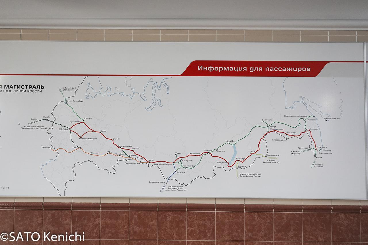 画像: シベリア鉄道路線図(イメージ)