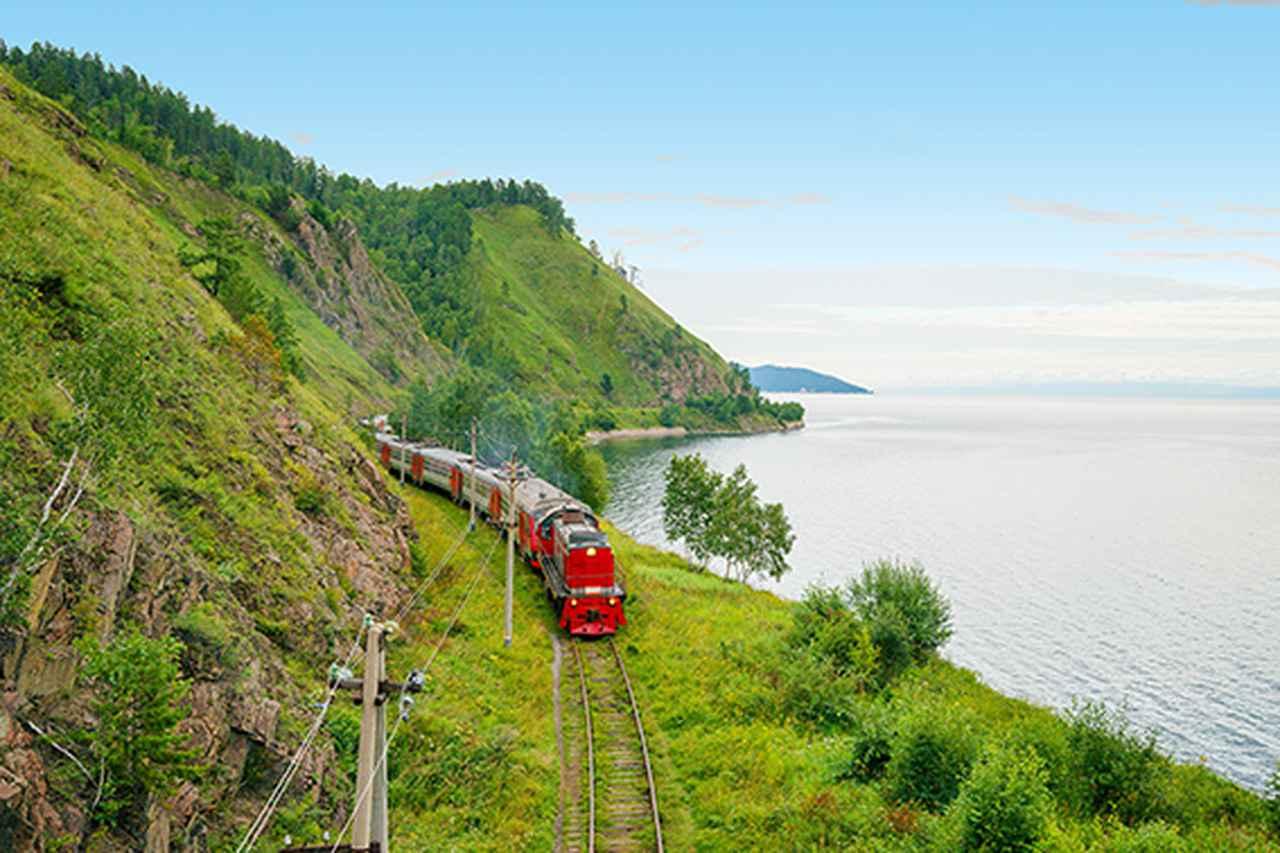 画像2: シベリア鉄道とバイカル湖(イメージ)