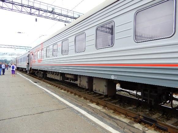 画像2: シベリア鉄道(弊社社員撮影)