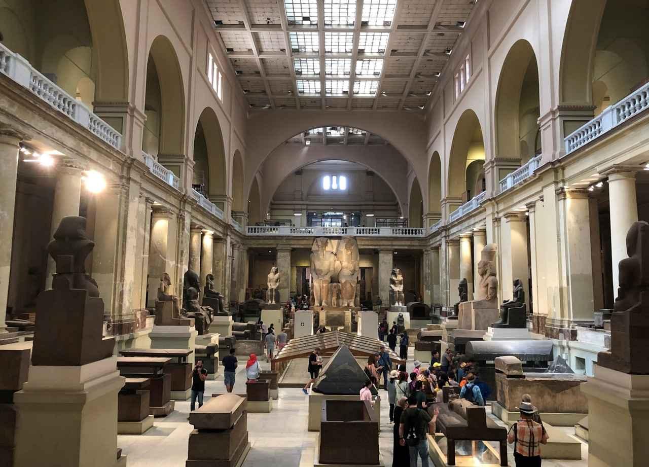 画像: 考古学博物館1階(企画担当者撮影/2019年5月)