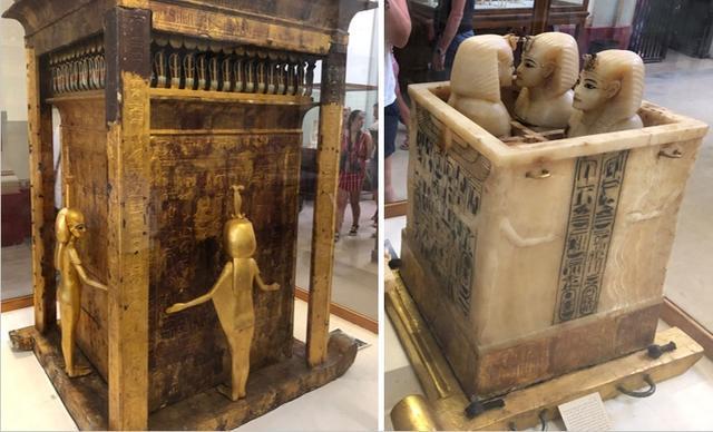 画像: 考古学博物館2階ツタンカーメンの秘宝(企画担当者撮影/2019年5月)