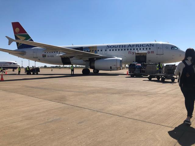 画像: 南アフリカ航空(リビングストーン → ケープタウン)2019年7月 担当者撮影