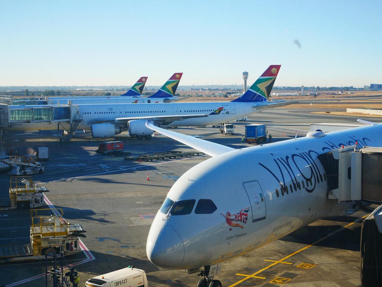 画像: 南アフリカ航空(撮影者担当)