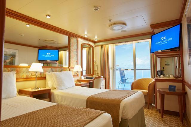 画像: おすすめは海側バルコニー付き客室です♪バルコニーから眺める大海原をご堪能ください!(イメージ)