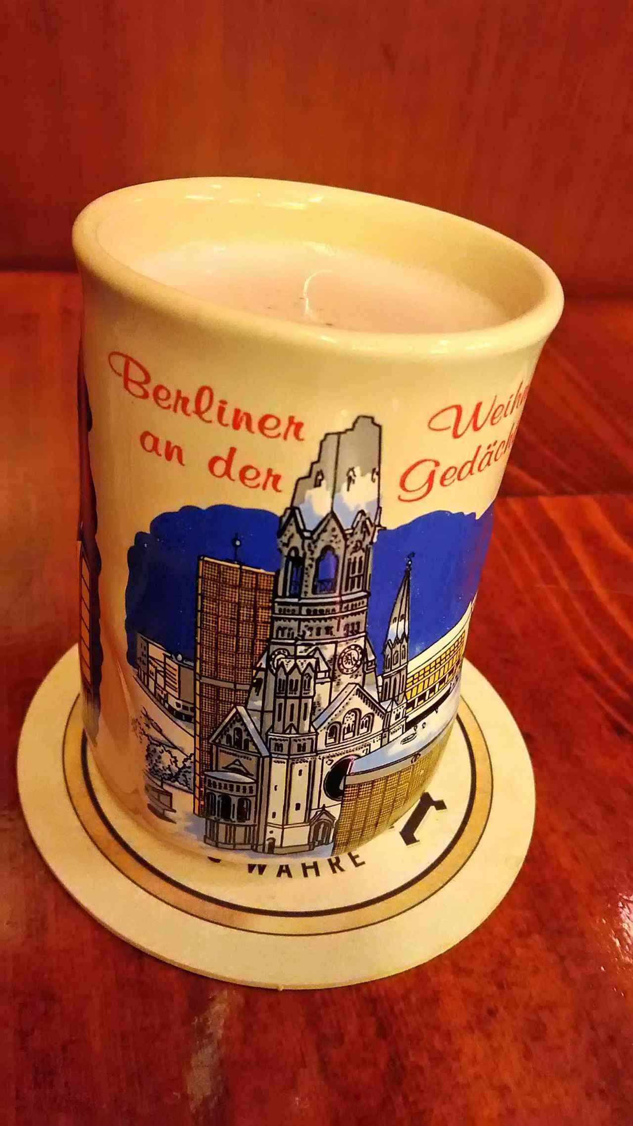 画像: ベルリンのマグカップに入ったグリューワイン(弊社添乗員撮影)