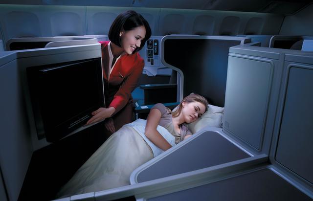 画像: 香港~ヨハネスブルグ間キャセイパシフィック航空ビジネスクラスシートイメージ※使用機材変更のため写真の仕様と異なる場合がございます。