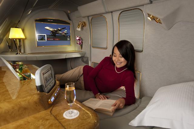 画像: 関西~ドバイ間ファーストクラスシートの一例※仕様が異なる場合がございます
