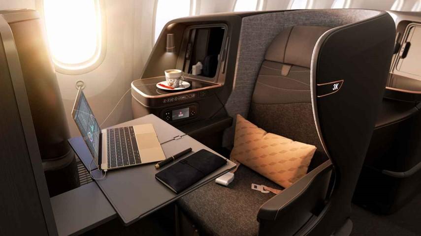 画像1: 関西~イスタンブール間ビジネスクラスシート一例※機材変更に伴い、仕様が異なる場合がございます