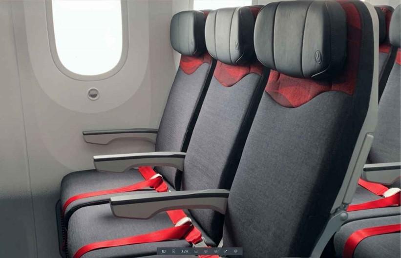 画像: エコノミークラスシート一例※機材変更に伴い、仕様が異なる場合がございます