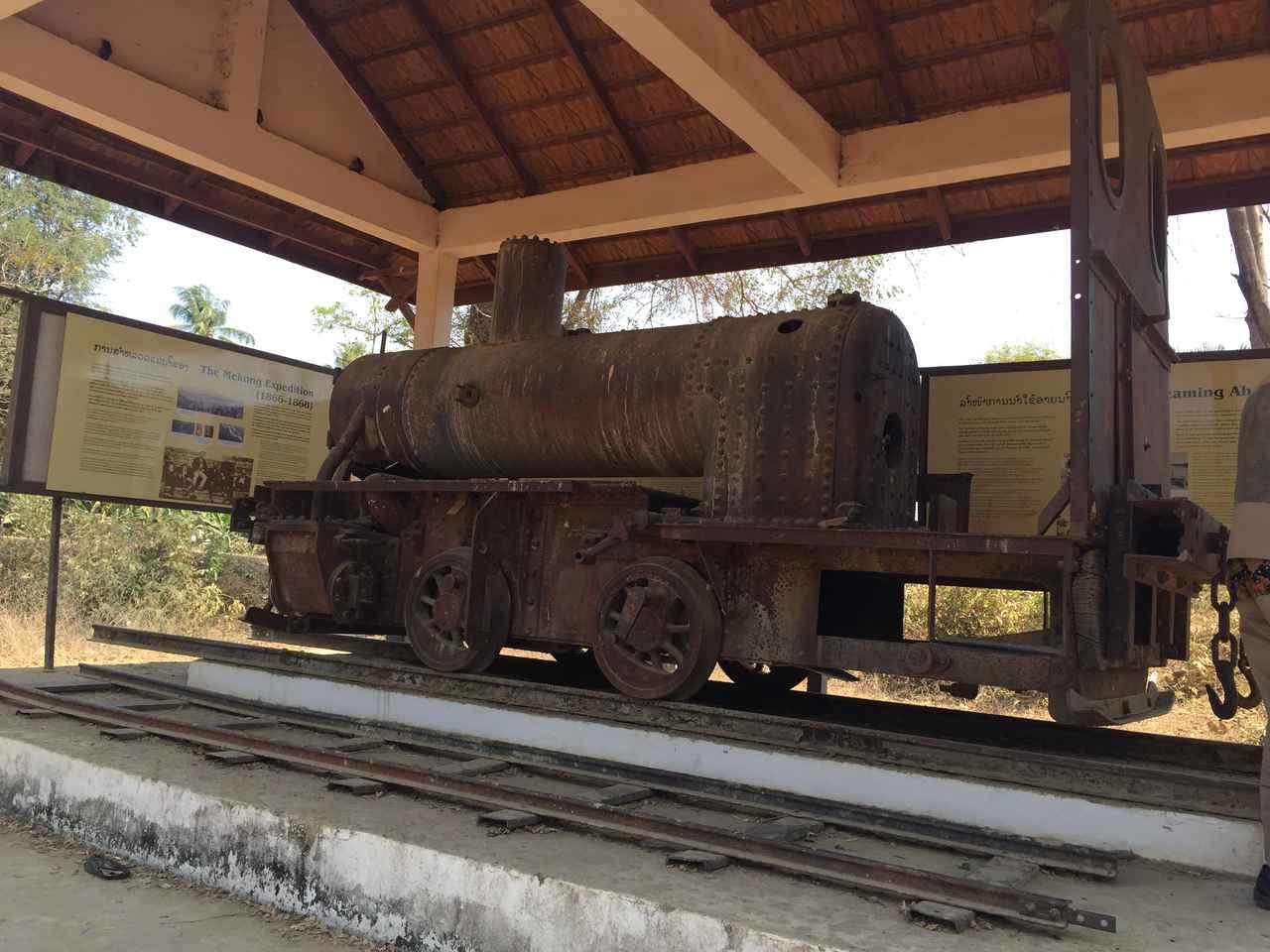 画像: 当時使われた蒸気機関車(2017年2月・弊社添乗員撮影)