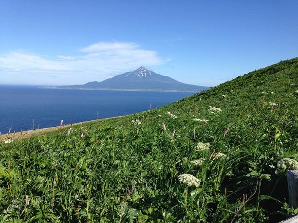 画像: 桃岩展望台から見える利尻富士