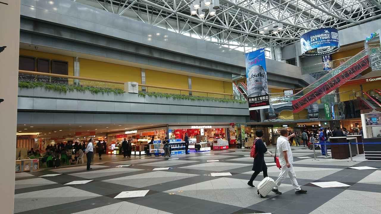 画像: 9月13日添乗員撮影 新千歳空港