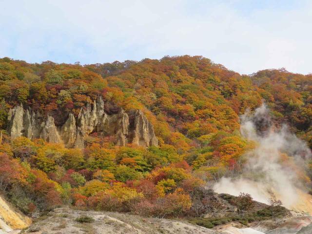 画像: 紅葉真っ盛り!色鮮やかな地獄谷を散策しました♪