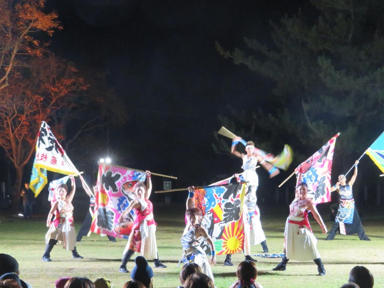 画像: 名物イベント「YOSAKOIソーラン」3組が披露してくれました。毎年6月に札幌でお祭りが開催されています。