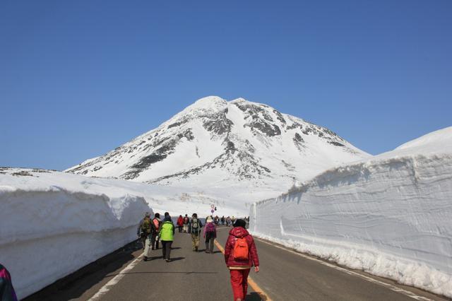 画像: 知床雪壁ウォークと羅臼岳