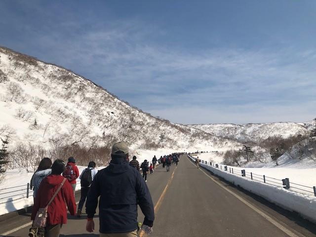 画像: 知床峠を目指して、歩いていきます!