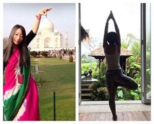 画像: はじめまして小森です! 「何事も形から入ろう」と思い立ち インドへホームステイに行ってまいりました。 インドでは、各家庭でヨガを ラジオ体操感覚で行なっているそうです!
