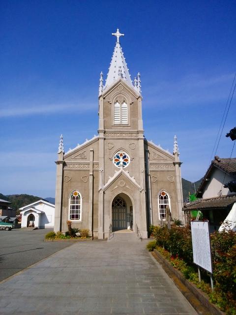 画像: 天草・崎津教会堂(富田撮影)
