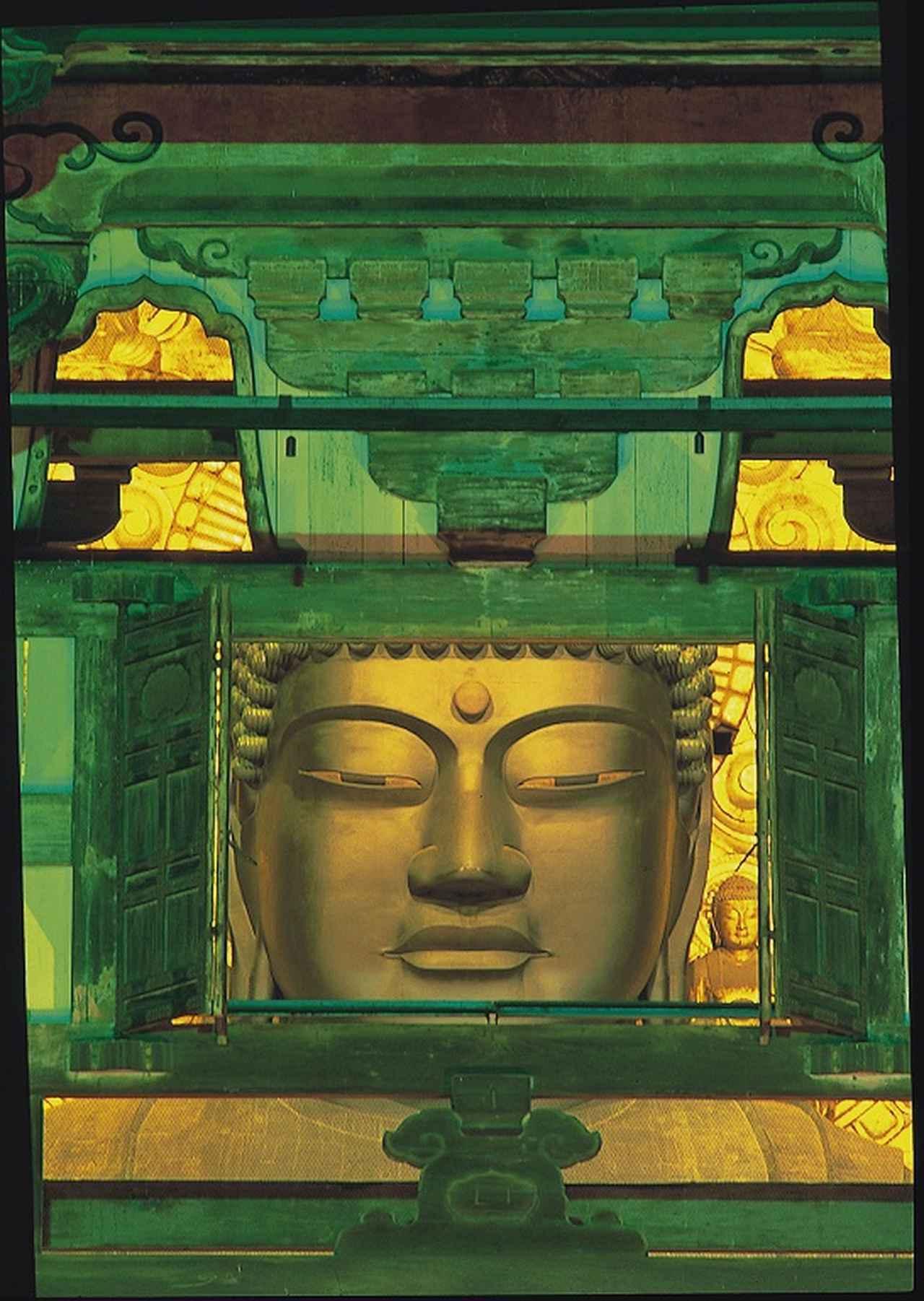 画像: 東大寺・大仏殿「観相窓」からのぞむ 国宝・盧舎那仏坐像 写真提供:奈良市観光協会