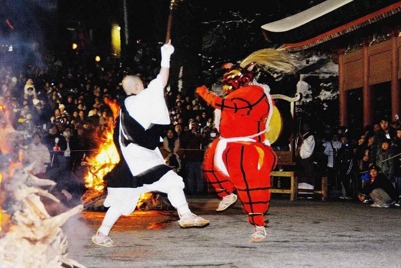 画像: 比叡山 鬼追い式の様子(イメージ) 写真提供:比叡山延暦寺