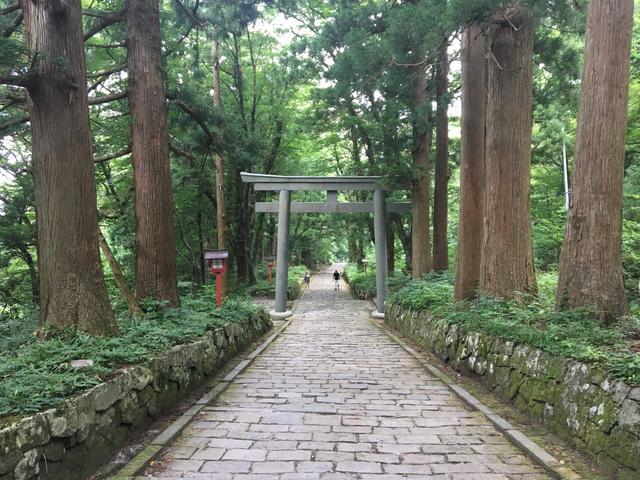 画像: 大神山神社奥社 石畳の道