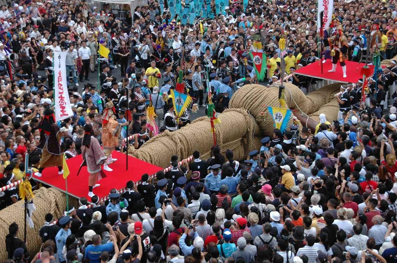 画像: 那覇大綱挽大会の過去大会の様子(イメージ)