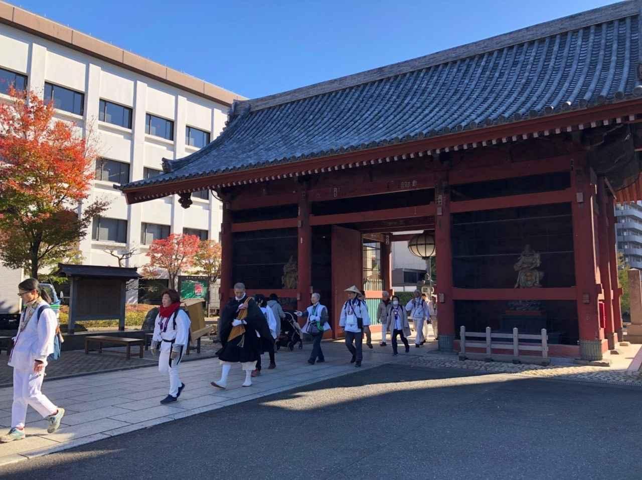 画像: 護国寺(東京)を出発! からっと晴れたいいお天気でした♪