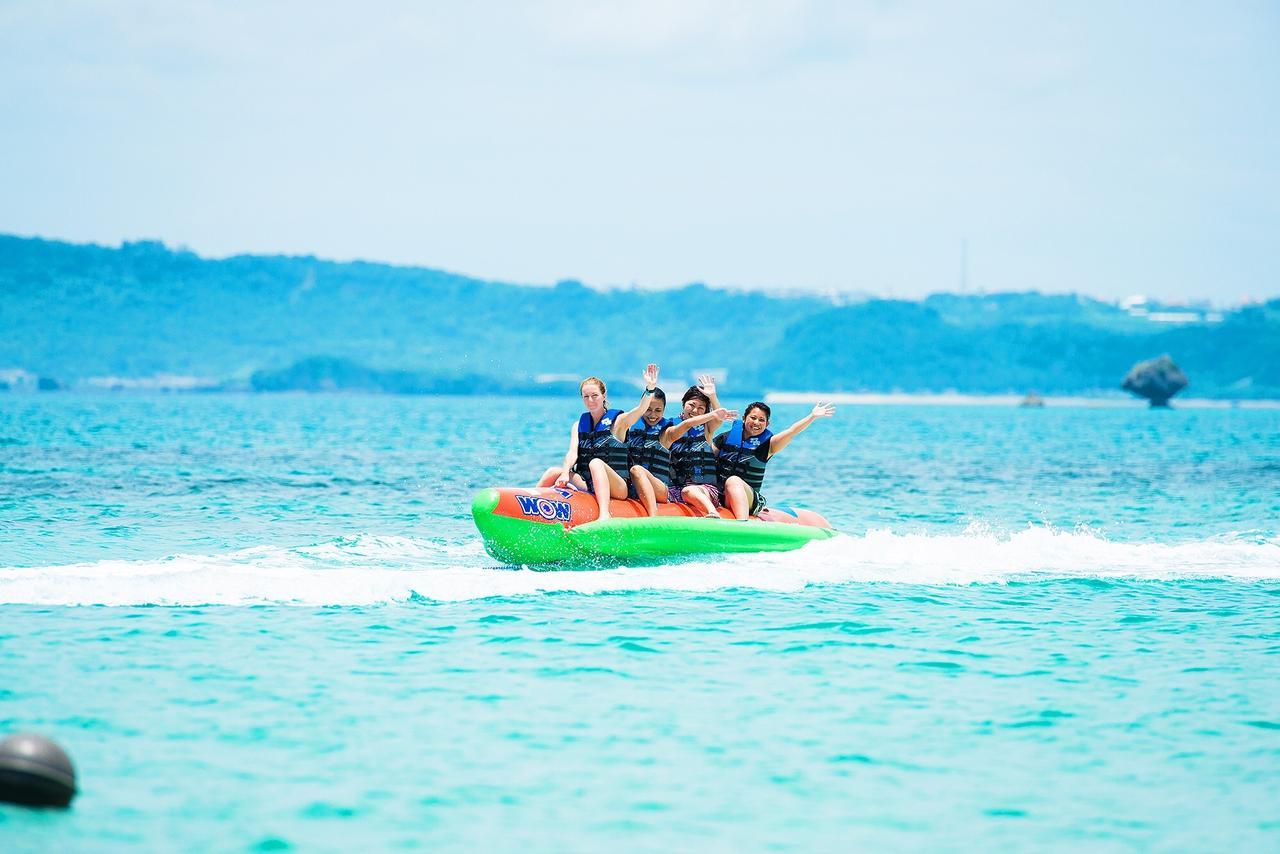 画像: バナナボート体験で夏の沖縄を満喫!(※6歳以上の方対象)