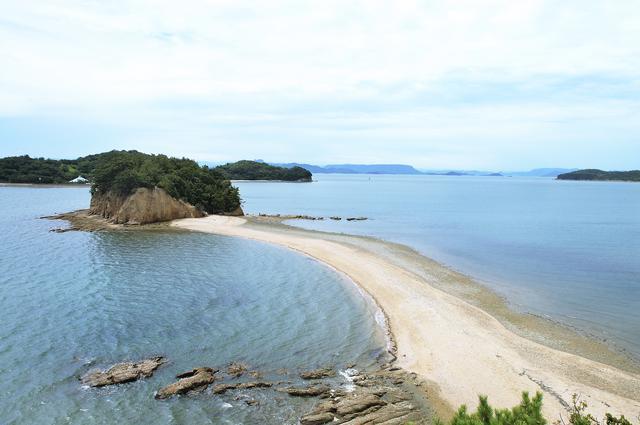 画像: 小豆島:エンジェルロード(干潮時イメージ)