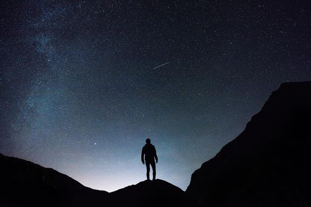 画像: 流星群観測のイメージ