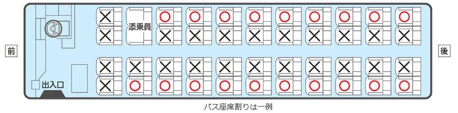 画像: 参加人数制限、バス座席