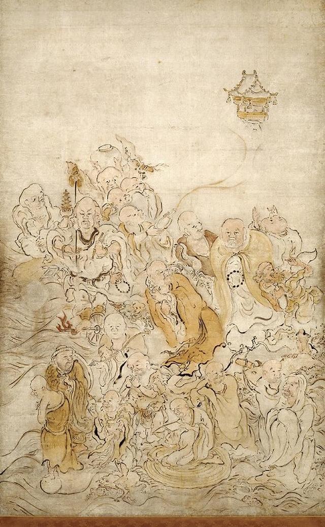 画像: 重要文化財 五百羅漢図のうち 池大雅筆 京都・萬福寺(通期展示)