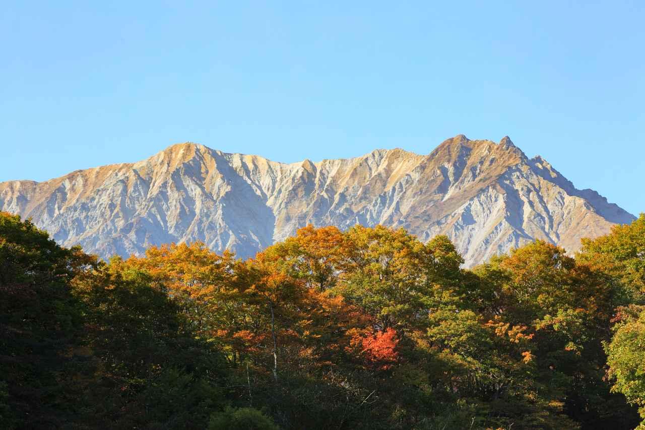 画像: 大山北壁の紅葉(イメージ)