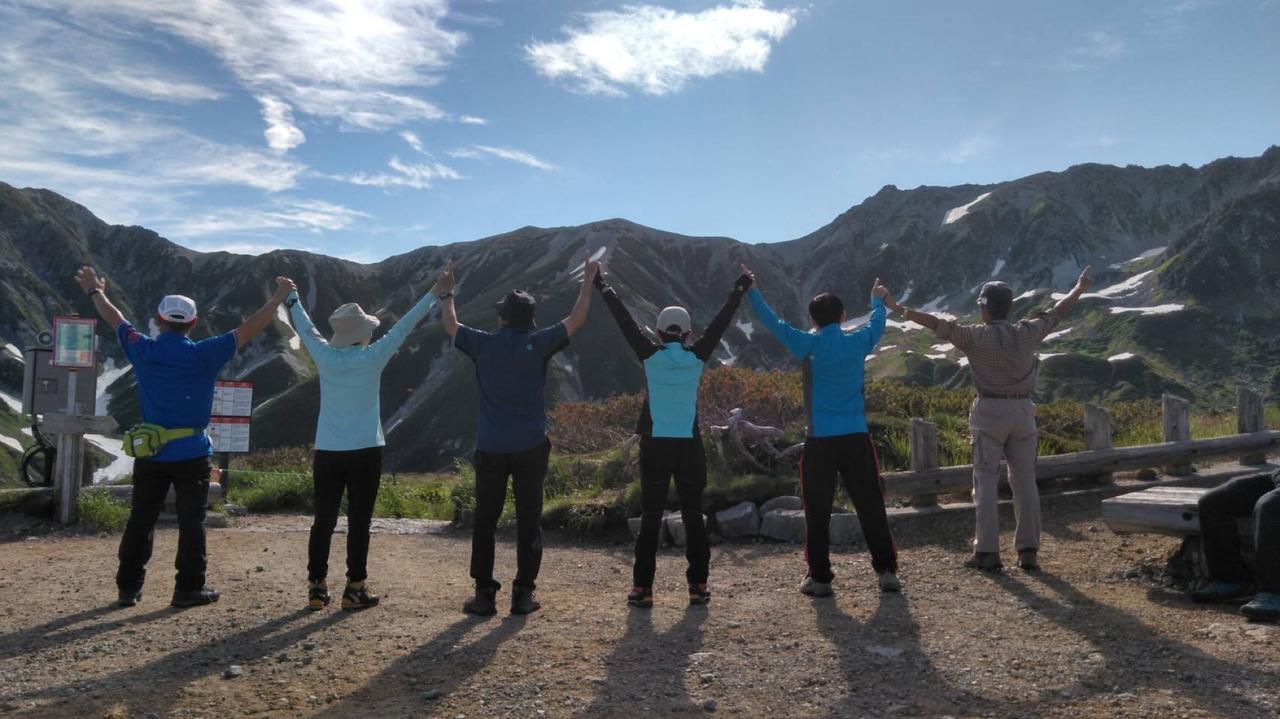画像: 最高のショット!立山三山を見ながらポーズをとっていただきました!(イメージ)