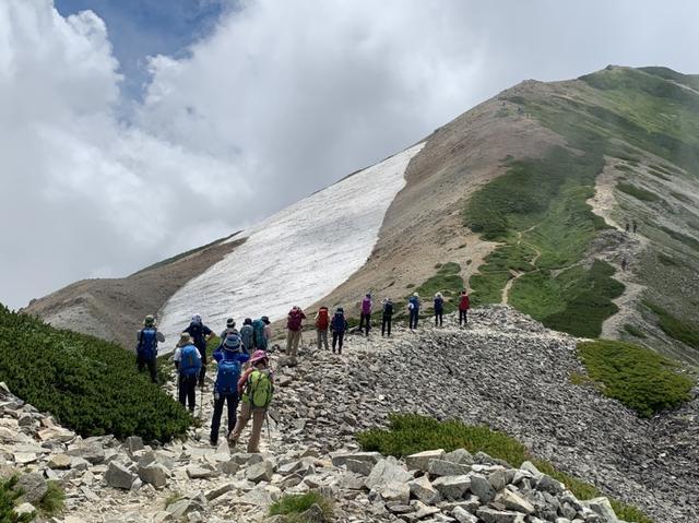 画像: 時には雪渓も出てきて目を楽しませてくれます(イメージ)