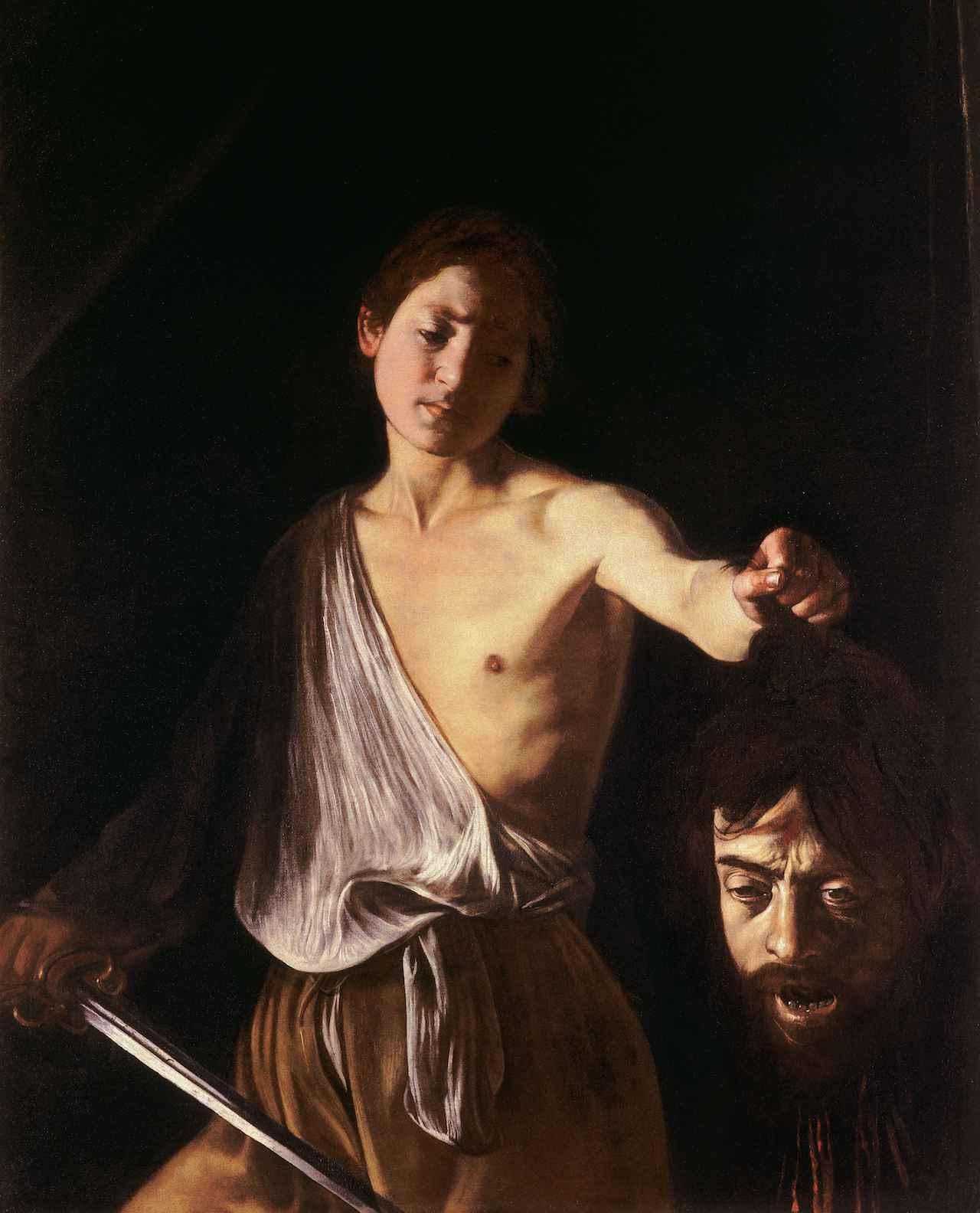 画像: ミケランジェロ・メリージ・ダ・カラヴァッジョ「ゴリアテの首を持つダヴィデ」