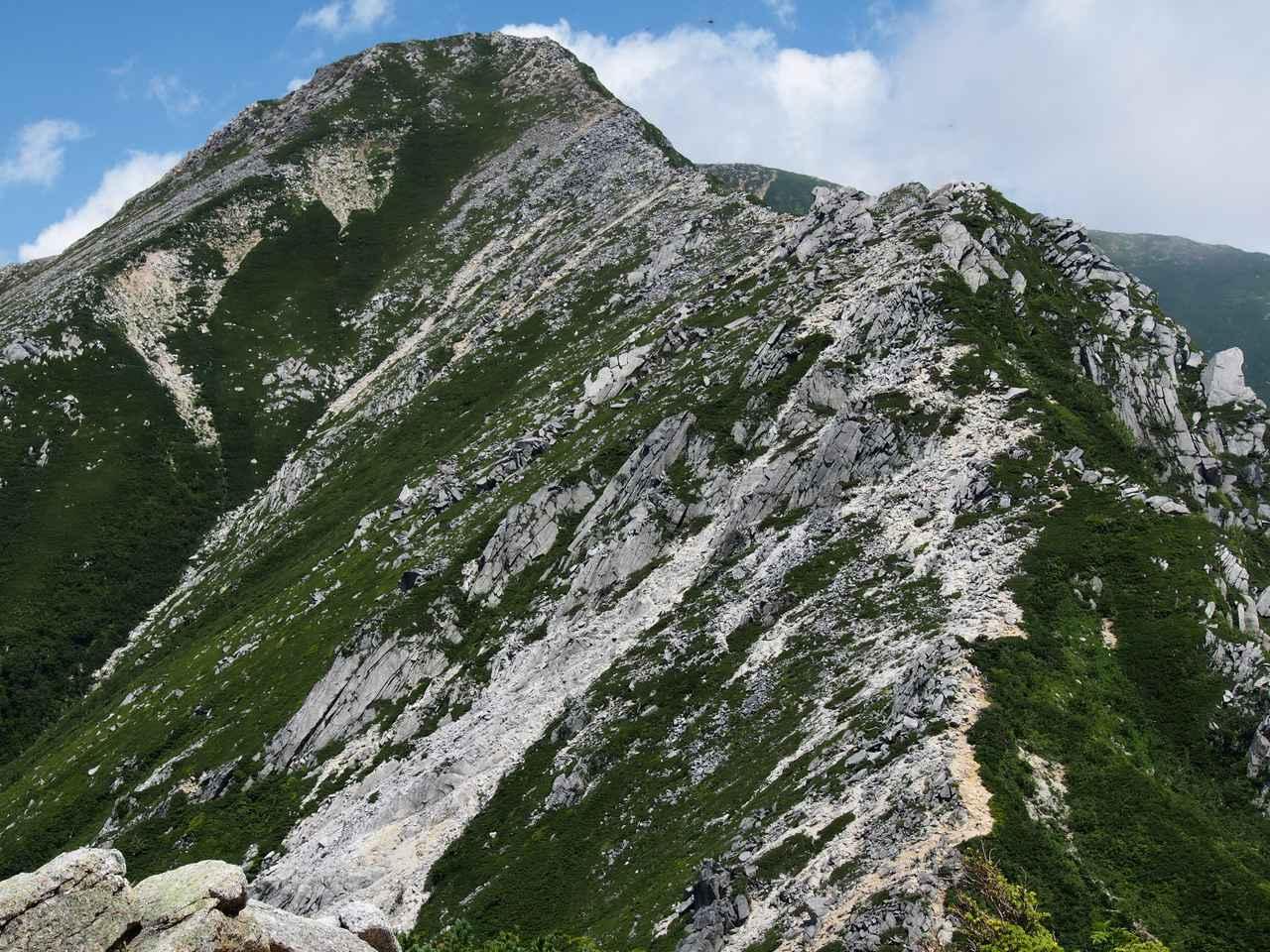 画像: 常念岳への稜線(イメージ)