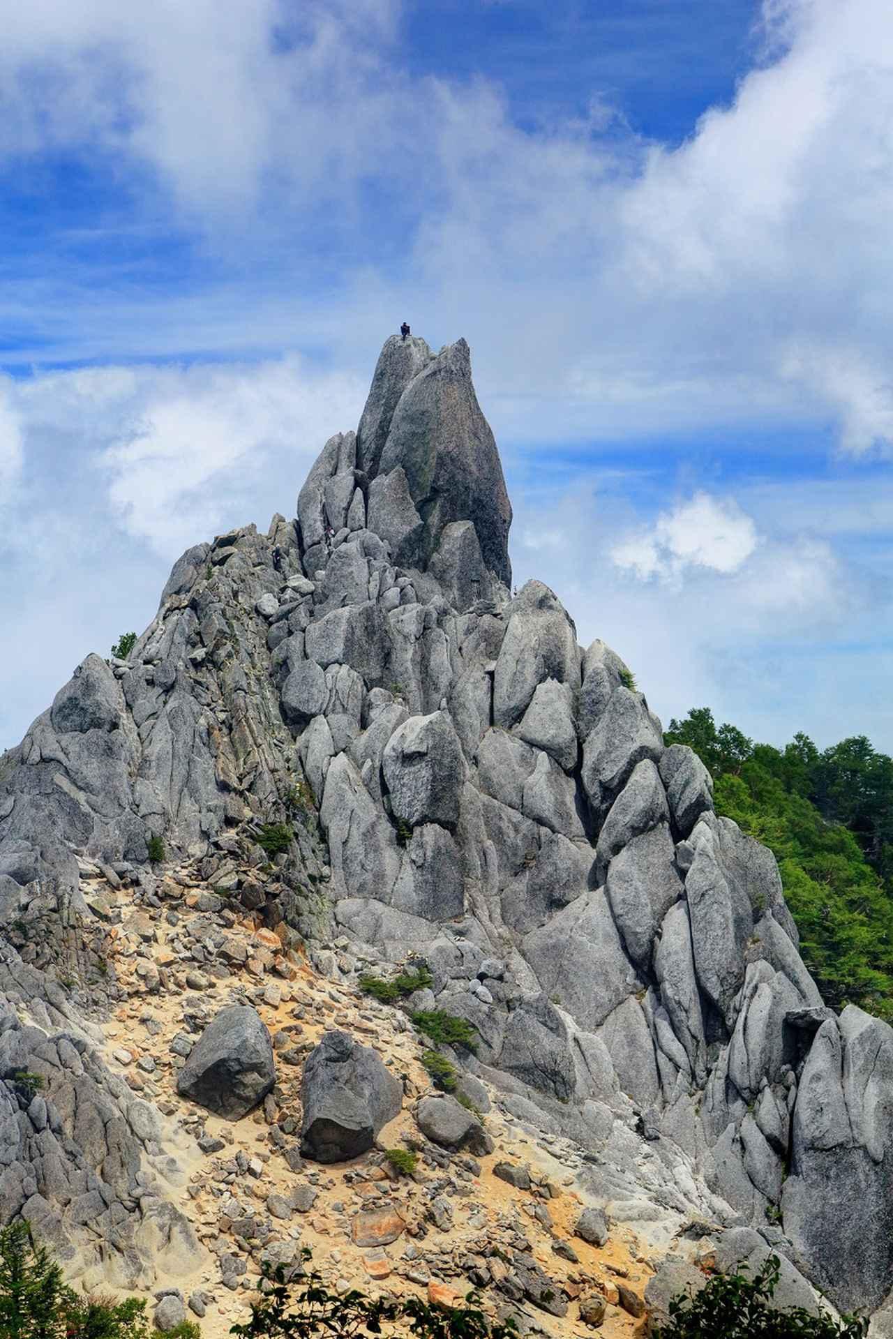 画像: 鳳凰三山・地蔵岳の「オベリスク」(イメージ)