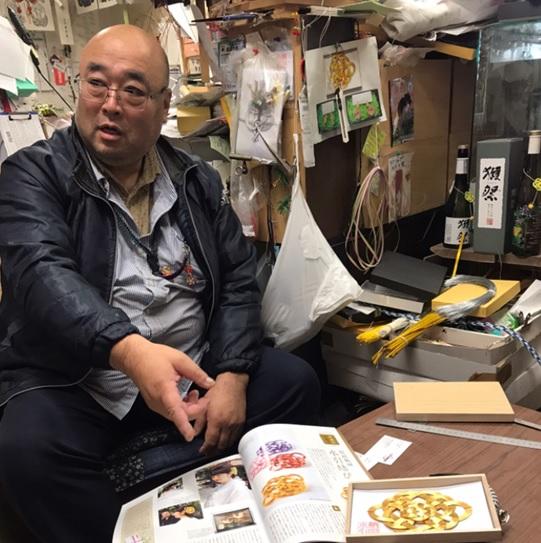 画像: 水引工芸職人・関島さん