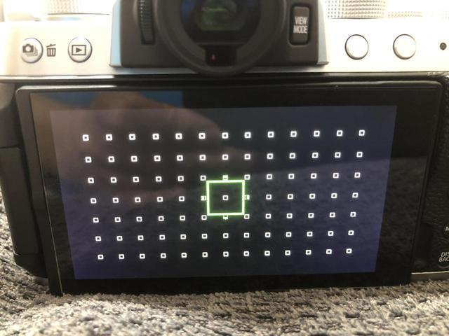 画像: 点の数が測距点の数になります