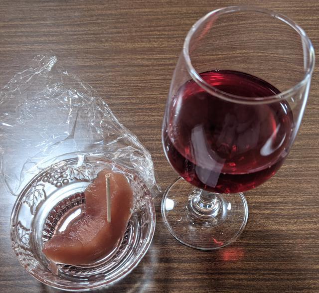 画像: りんごの赤ワインコンポート(スタッフ撮影)